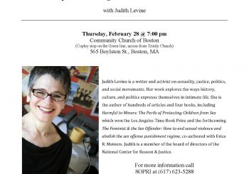 Event Notice: The Feminist & the Sex Offender